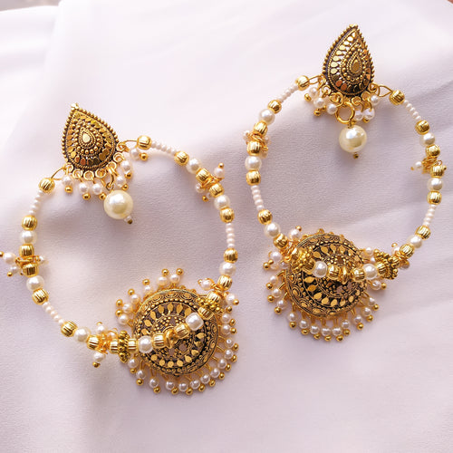 Kisiya Gold Jhumka hoop Earrings
