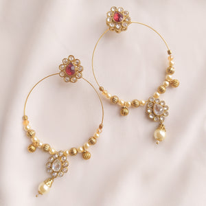 Laveen Earrings - Maroon