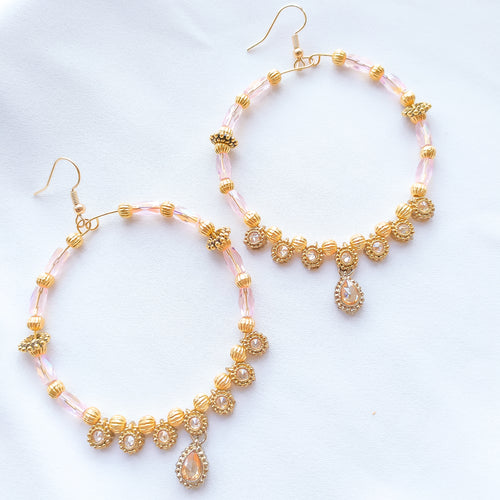 Sofeen Hoop Earrings - Light Pink