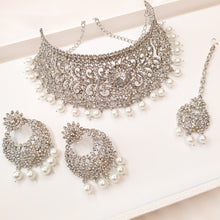 Load image into Gallery viewer, Sonam Choker set - Silver