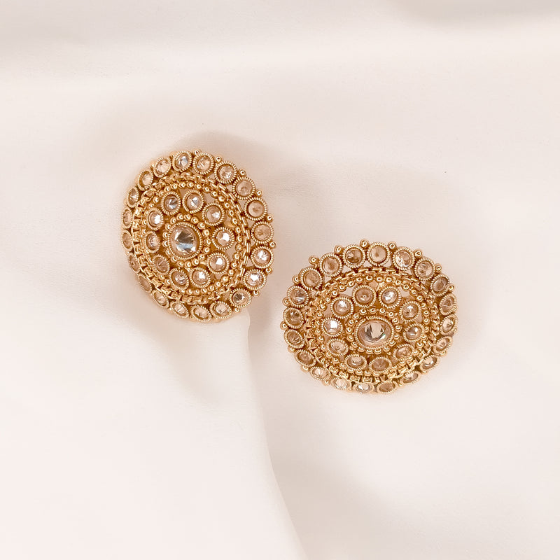 Ramisha Round Earring Tops - Antique