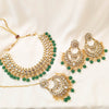 Saeema Faux Kundan set - Green