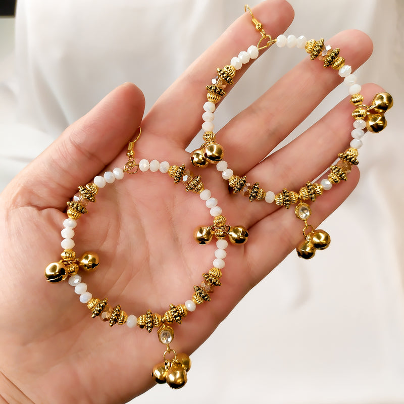 Annum Belled kundan Gem Hoops
