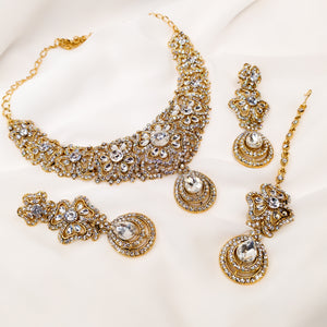 Sumbal Necklace Set - Clear Crystal