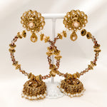 Azalea Jhumka Hoop Earrings