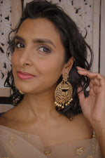 Large Antique Earrings - Pearl