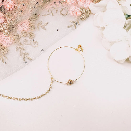 Gold ball Nose ring - Clip on
