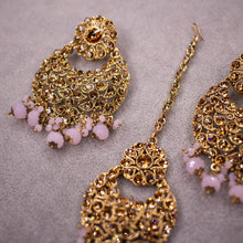 Load image into Gallery viewer, Bali Tikka and Earrings - Pink
