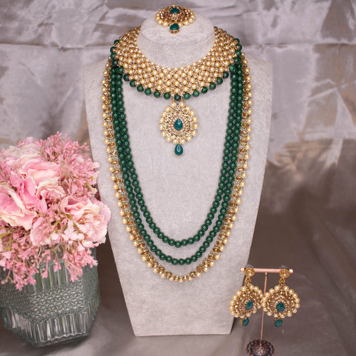 Fari Bridal Necklace Set - Green