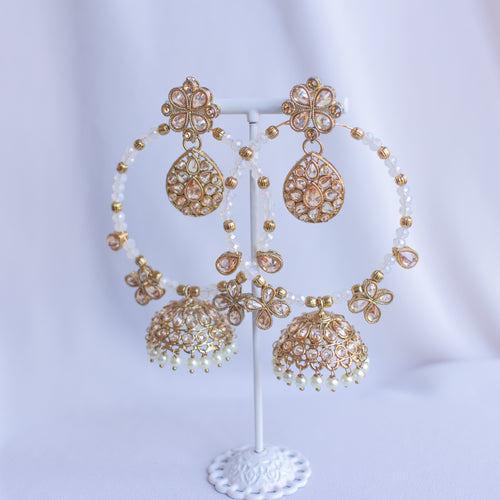 Aziza Jhumka hoop Earrings