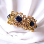 Statement Zircon and Dark Navy Bangle Size 2.6