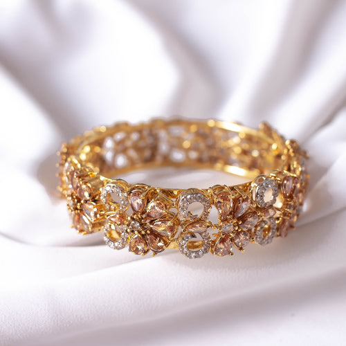 Statement Zircon and Ruby Bangle Size 2.6 (Medium)
