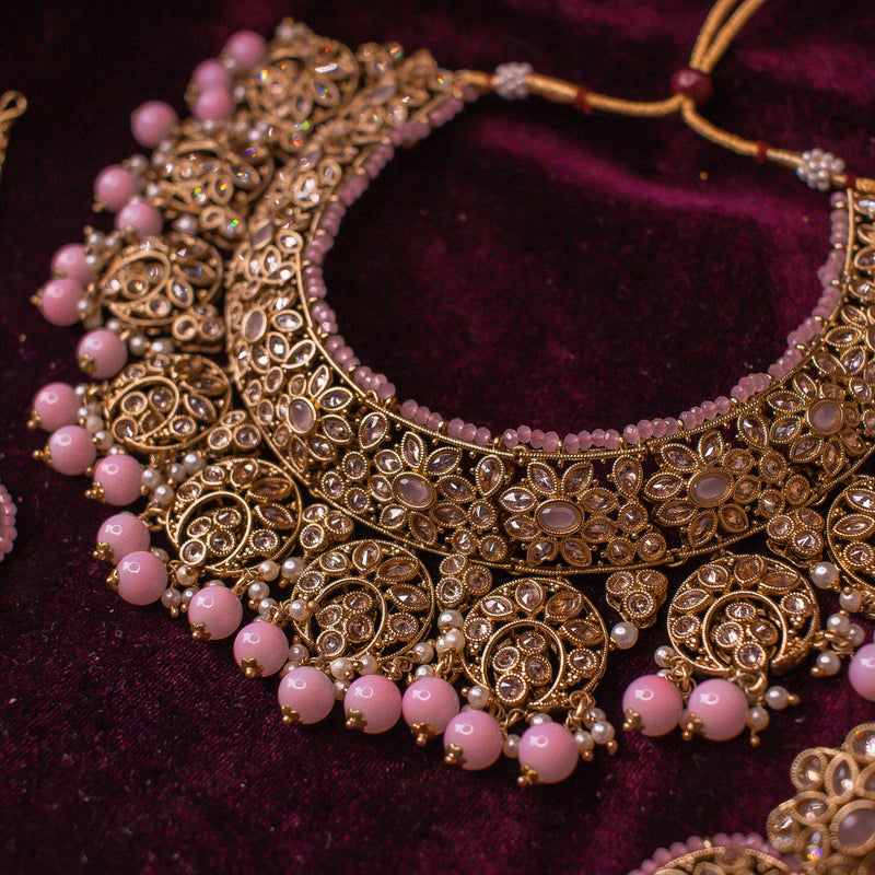 Alama Necklace Set - Pink