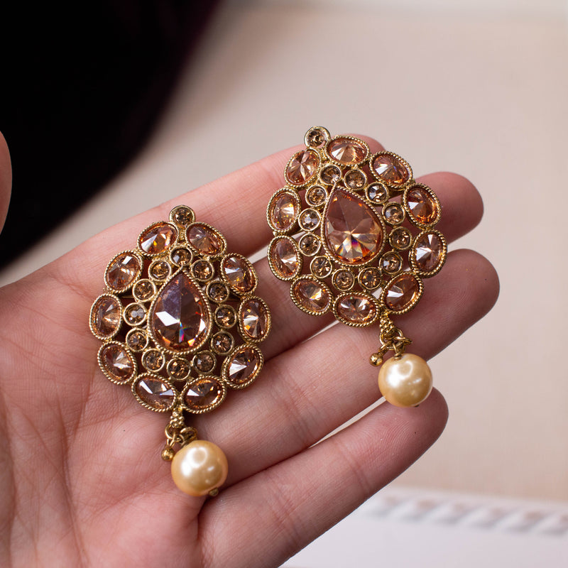 Antique Gold Earring Tops