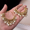 Bineesh Pearl Drop Hoops