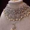 Tahira Bridal necklace set - Silver