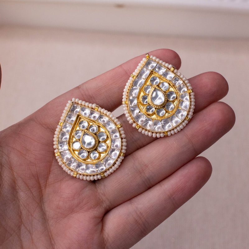 Drop Shape Kundan Earring Tops