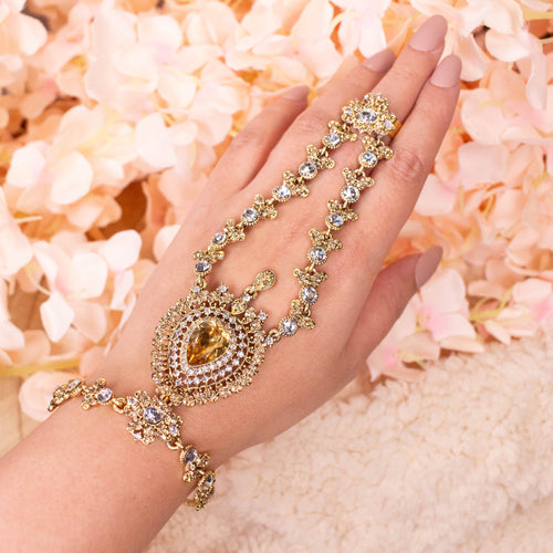 Aruna Hand Harness - Golden