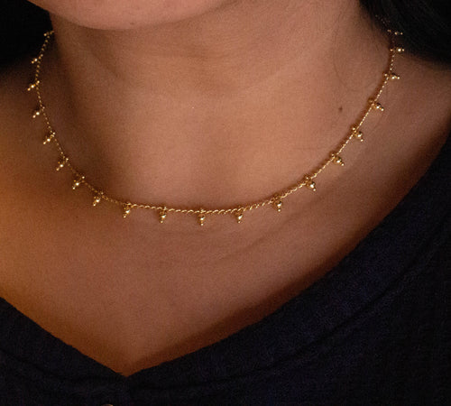 Gold plated Ball Bead Necklace