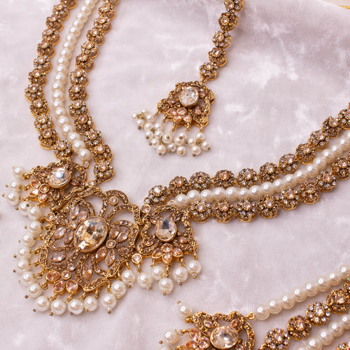 Luna Bridal Necklace set - Golden