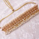 Gold plated Zircon Crystal Choker