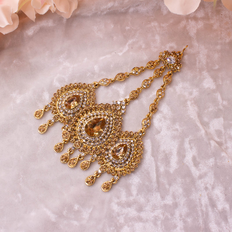 Aruna Antique Gold Jhumar