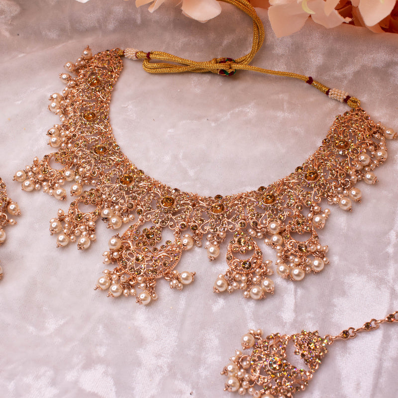 Alicia Necklace set - Rose Gold