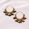 Binta Multi Jhumka Hoops - Midnight Green