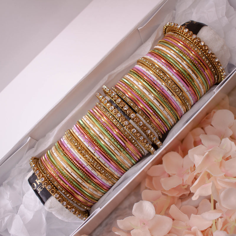 Bridal Bangle stack - Pastel