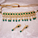 Kundan Choker  set - Emerald Green