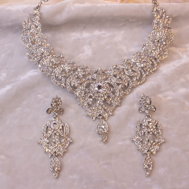 Kayal Necklace set - Silver