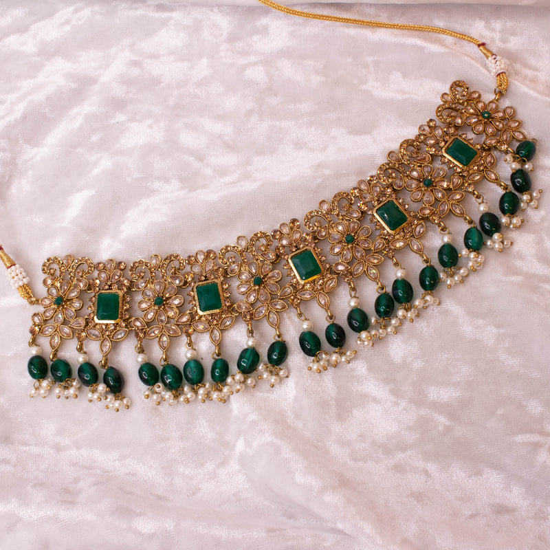 Shazna Choker - Dark Green