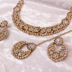 Tiara Necklace set - Clear Crystal