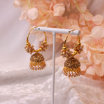 Mini Gold Jhumka Hoops