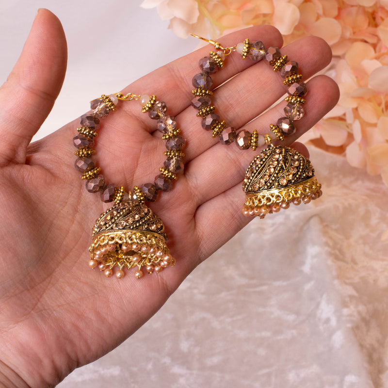 Maya Bronze Jhumka Hoop Earrings