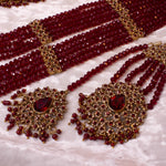 Suman Bridal Jewellery Box set - Maroon