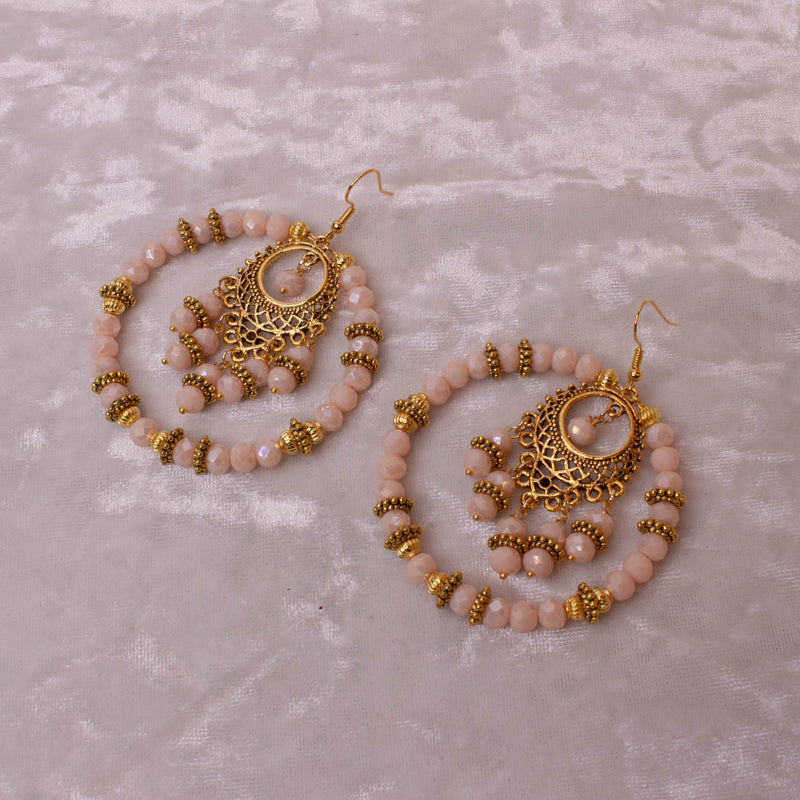 Eesha Hoops - Peach