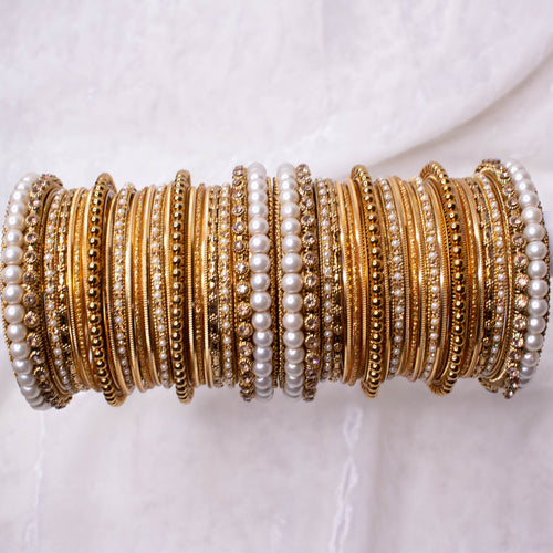 Golden Bangle stack