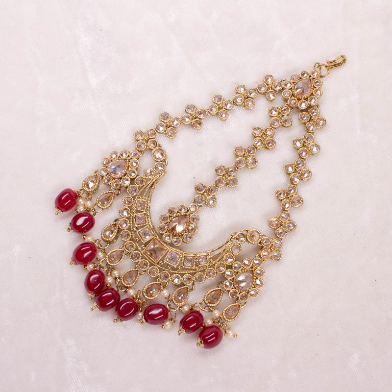 Antique Jhumar - Maroon