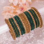 Emerald Green Bangle stack