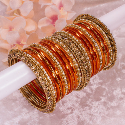 Orange Bangle stack