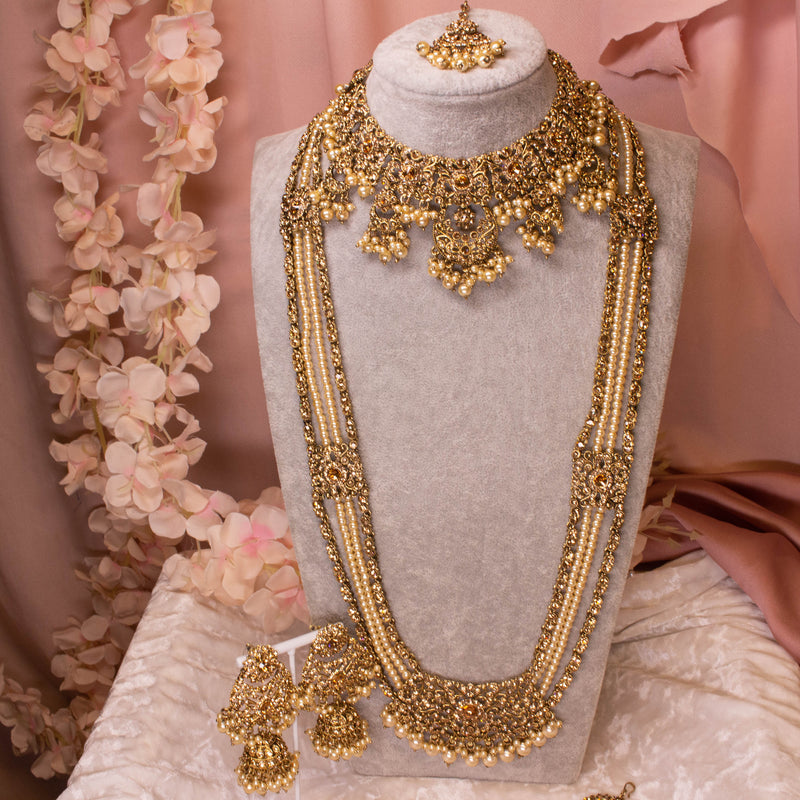 Alicia Bridal Necklace Set - Golden