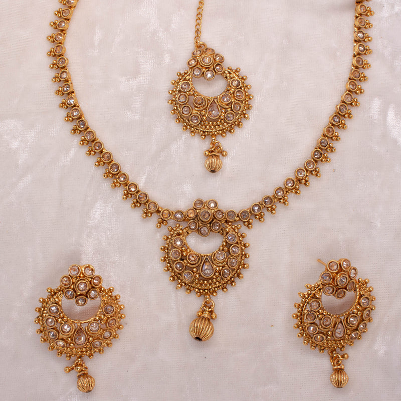 Small Gold Pendant Set