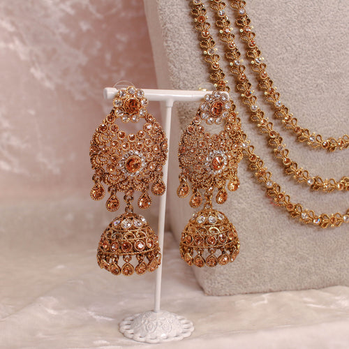 Maya Bridal Necklace Set - Golden