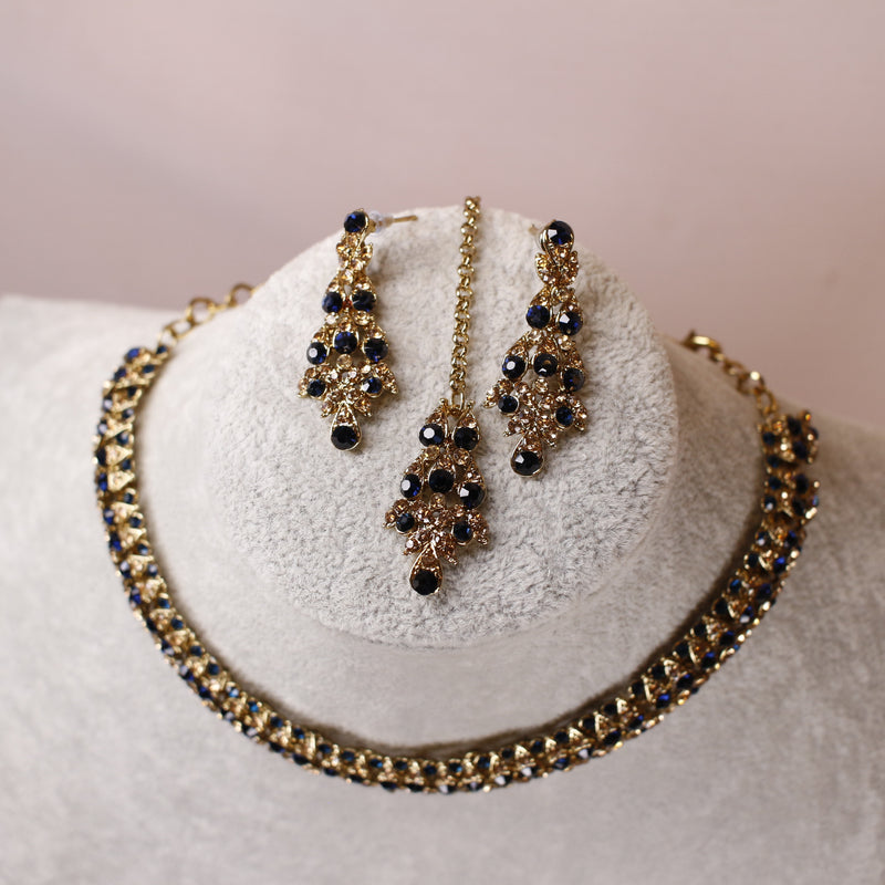 Freda Necklace set - Navy