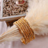 Fine set of 6 22k Gold Plate Bangles