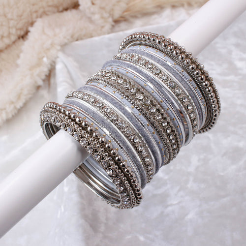 Grey/Silver Bangle stack