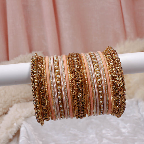 Peach Bangle stack