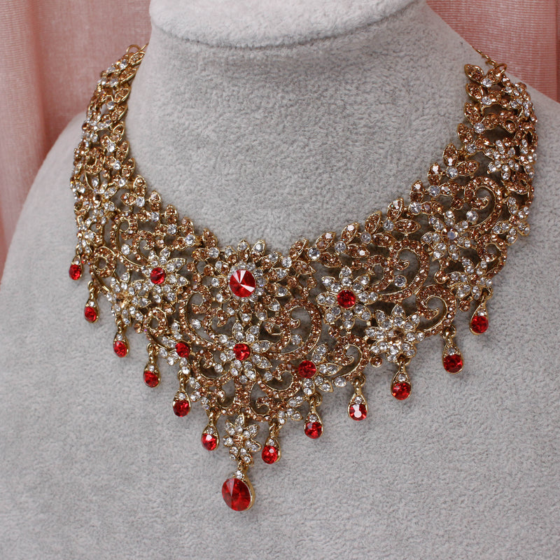 Asia Necklace Set - Red