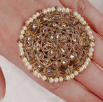 Large Golden Mandala Ring